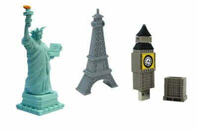 Clé USB monuments touristiques