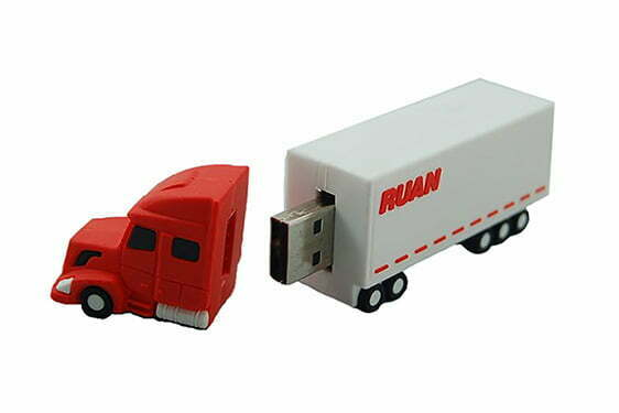 Clé USB american truck publicitaire création sur mesure en PVC personnalisation logo