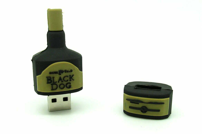 Clé USB bouteille Whisky création originale sur mesure en PVC personnalisation logo