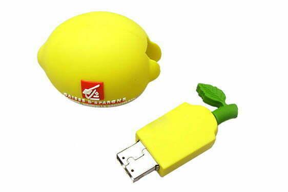 Clé USB Citron personnalisation logo