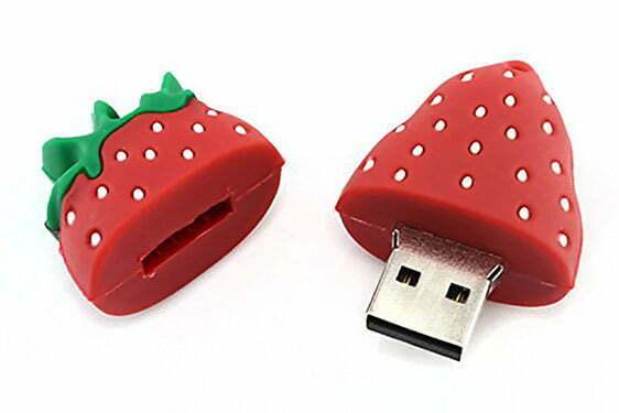 Clé USB Fraise Création sur mesure en PVC Forme 2D ou 3D Logo