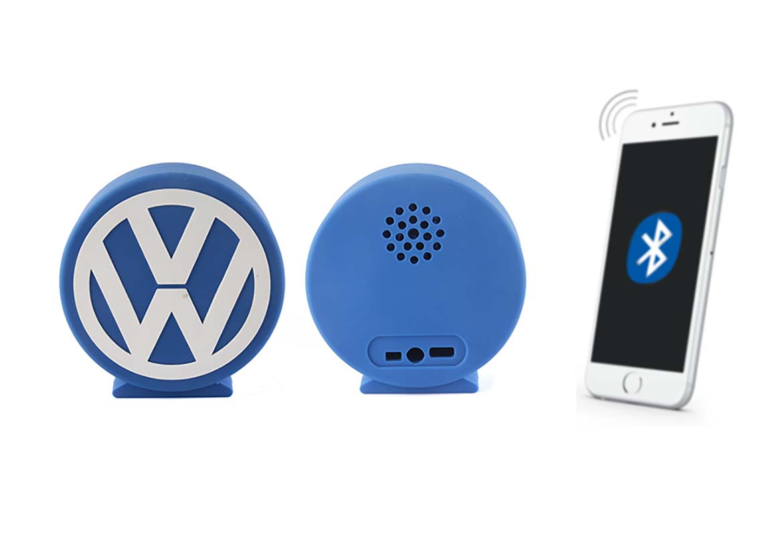 Enceinte sans fil PVC en forme de logo volkswagen